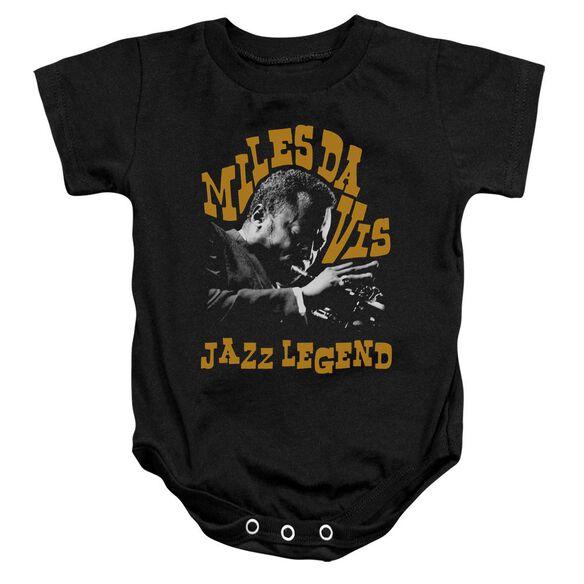 Miles Davis Jazz Legend Infant Snapsuit Black