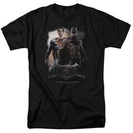 Batman Vs Superman Dawn Short Sleeve Adult Black T-Shirt