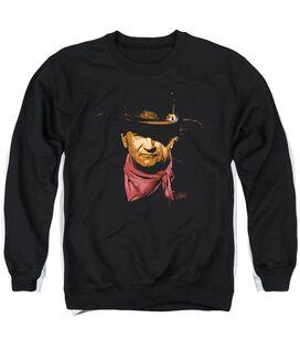 John Wayne Splatter Adult Crewneck Sweatshirt