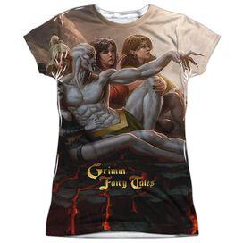 Zenoscope Evil Vs Good Short Sleeve Junior Poly Crew T-Shirt
