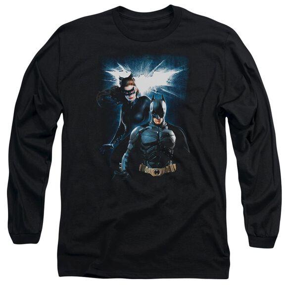 Dark Knight Rises Bat & Cat Long Sleeve Adult T-Shirt