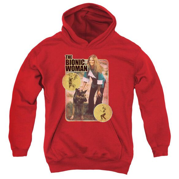 Bionic Woman Jamie And Max Youth Pull Over Hoodie