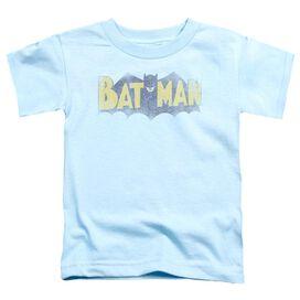 Batman Vintage Logo Short Sleeve Toddler Tee Light Blue Lg T-Shirt