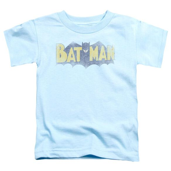 Batman Vintage Logo Short Sleeve Toddler Tee Light Blue Lg T-Shirt
