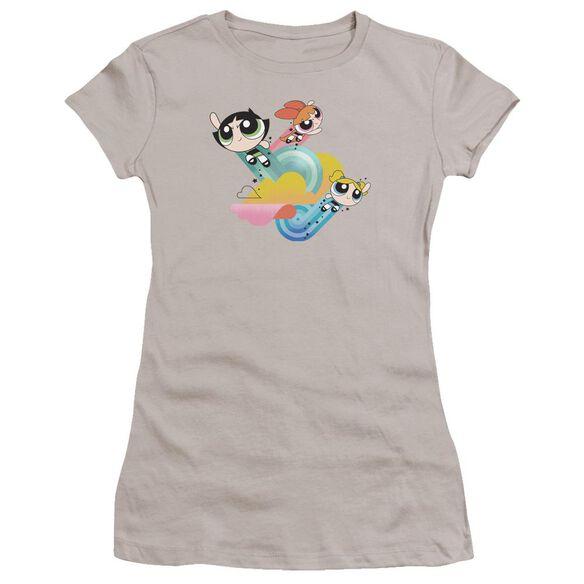 Powerpuff Girls Spiral Streaks Hbo Short Sleeve Junior Sheer T-Shirt