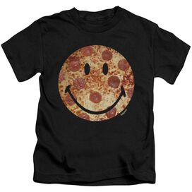 Smiley World Pizza Face Short Sleeve Juvenile T-Shirt