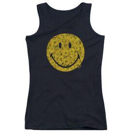 Smiley World Rosey Face Juniors Tank Top