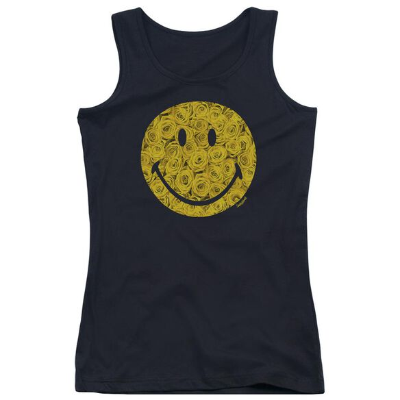Smiley World Rosey Face Juniors Tank Top
