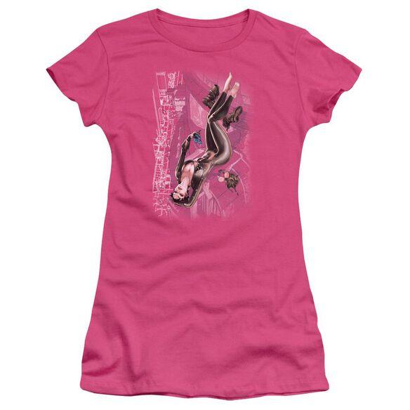 Jla Catwoman #1 Short Sleeve Junior Sheer Hot T-Shirt