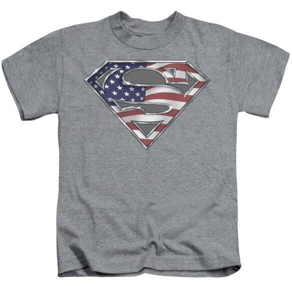 SUPERMAN ALL - S/S JUVENILE 18/1 - ATHLETIC HEATHER - T-Shirt