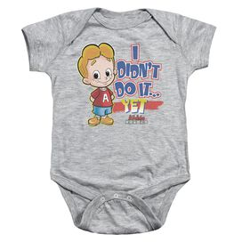 Archie Babies Not Yet Infant Snapsuit Athletic Heather Lg