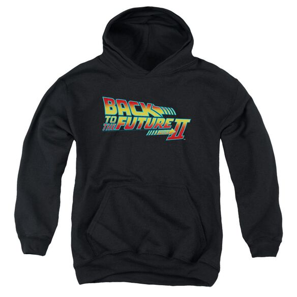 Back To The Future Ii Logo Youth Pull Over Hoodie