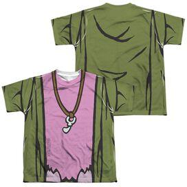Fraggle Rock Mokey Uniform (Front Back Print) Short Sleeve Youth Poly Crew T-Shirt