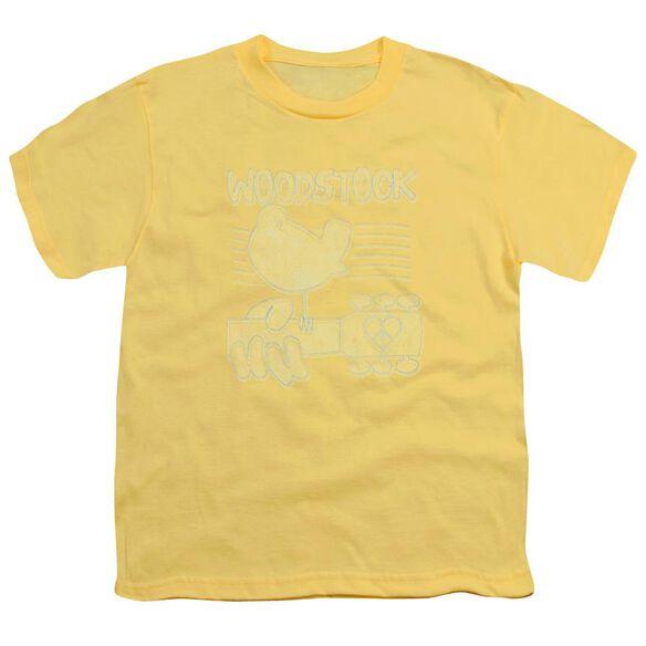 Woodstock Liney Logo Short Sleeve Youth T-Shirt