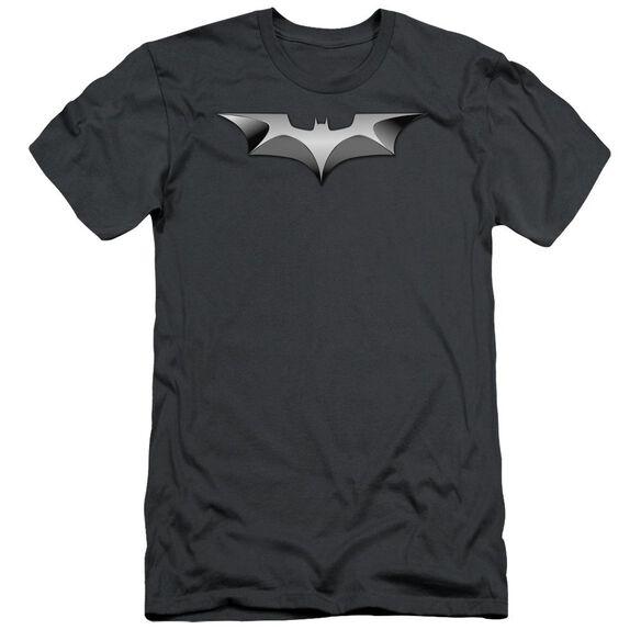 Dark Knight Metal Bat Logo Short Sleeve Adult T-Shirt