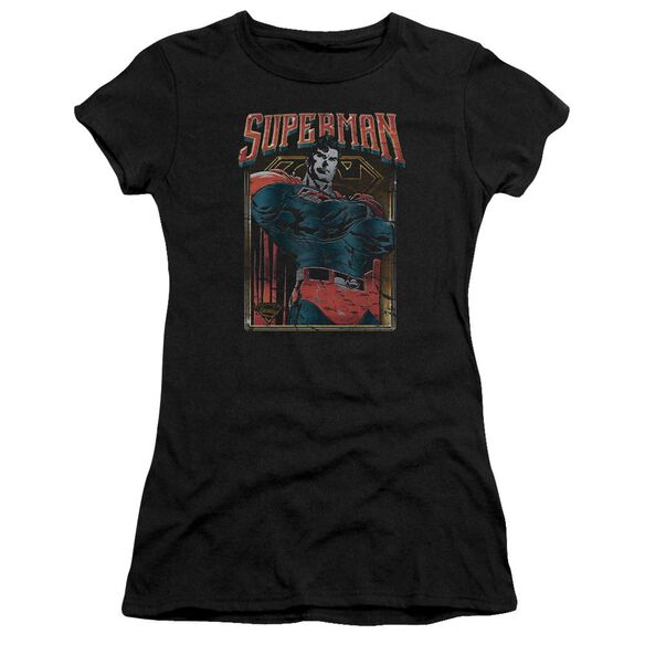 Superman Head Bang Premium Bella Junior Sheer Jersey