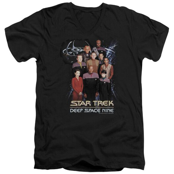 Star Trek Ds9 Crew Short Sleeve Adult V Neck T-Shirt