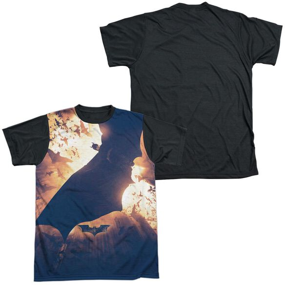 Batman Begins Colony Short Sleeve Adult Front Black Back T-Shirt