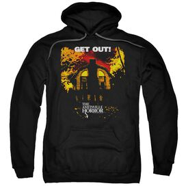 Amityville Horror Get Out Adult Pull Over Hoodie Black