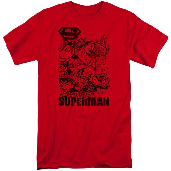 Superman Breaking Chains Short Sleeve Adult Tall T-Shirt
