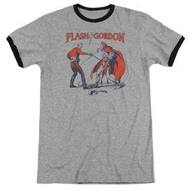 Flash Gordon Duel Adult Ringer Heather Black