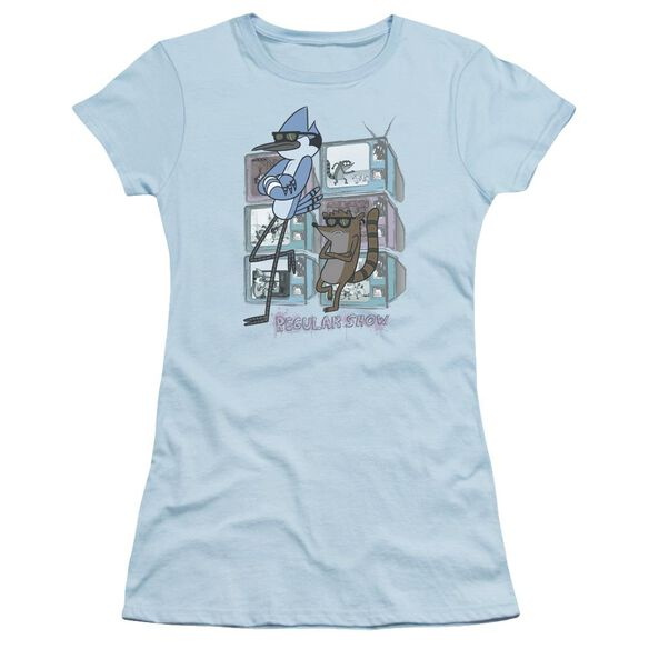 Regular Show Tv Too Cool Short Sleeve Junior Sheer Light T-Shirt