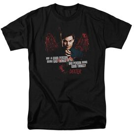 Dexter Good Bad Short Sleeve Adult T-Shirt