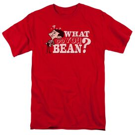 Mr Bean What You Bean Short Sleeve Adult Red T-Shirt
