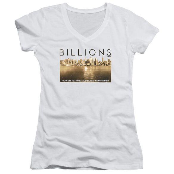 Billions Golden City Junior V Neck T-Shirt