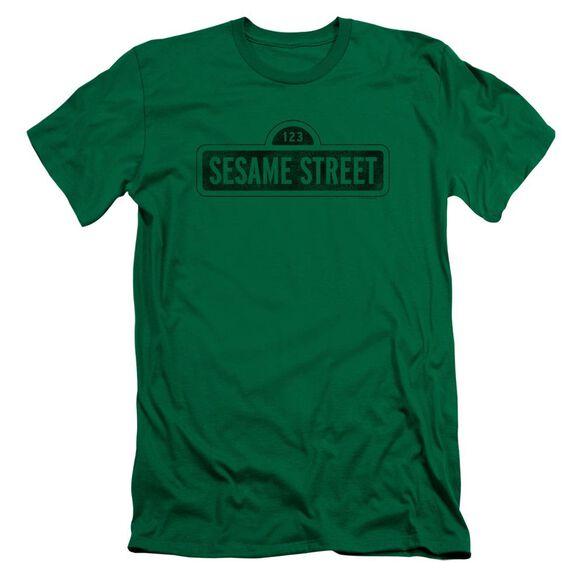 Sesame Street One Color Dark Premuim Canvas Adult Slim Fit Kelly