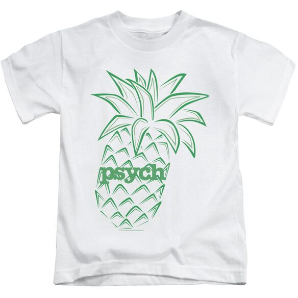 Psych Pineapple Short Sleeve Juvenile White T-Shirt