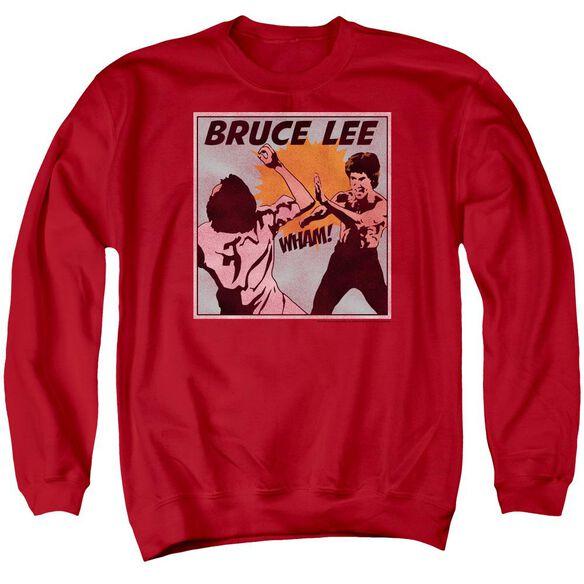Bruce Lee Comic Panel Adult Crewneck Sweatshirt
