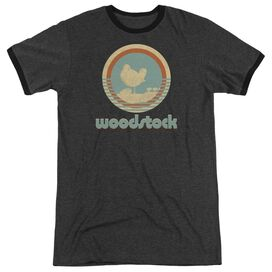 Woodstock Bird Circle Adult Ringer Charcoal
