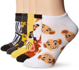 Lion King Low Cut Kids Sock Set [5-pack]