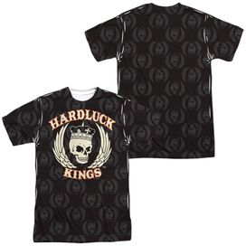 Hardluck Kings Pattern (Front Back Print) Short Sleeve Adult Poly Crew T-Shirt