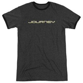 Journey Logo Adult Heather Ringer Charcoal