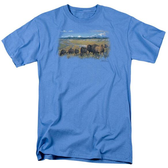 Wildlife The Passing Herd Short Sleeve Adult Carolina T-Shirt