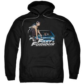 FAST AND THE FURIOUS CAR RIDE - ADULT PULL-OVER HOODIE - Black