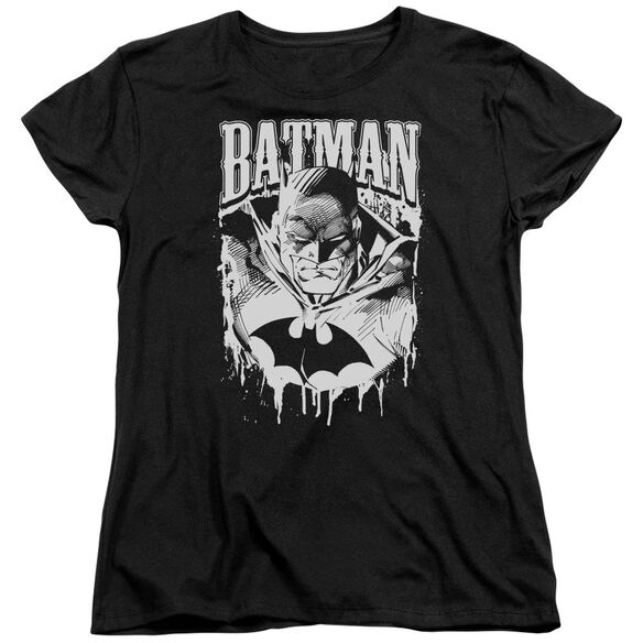 Batman Bat Metal Short Sleeve Womens Tee T-Shirt