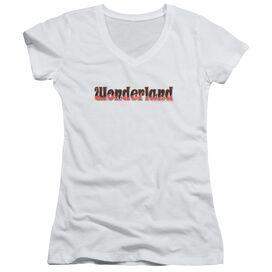 Zenoscope Wonderland Logo Junior V Neck T-Shirt
