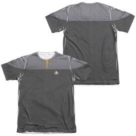 STAR TREK TNG MOVIE ENGINEERING UNIFORM (FRONT/BACK PRINT)-ADULT POLY/COTTON T-Shirt