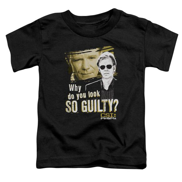Csi Miami So Guilty Short Sleeve Toddler Tee Black Lg T-Shirt