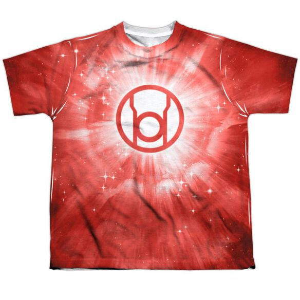 Green Lantern Red Energy Short Sleeve Youth Poly Crew T-Shirt