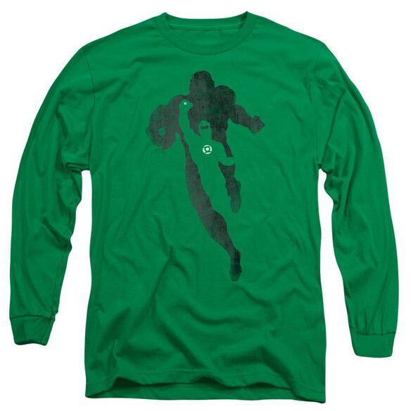 Dc Lantern Knockout Long Sleeve Adult Kelly T-Shirt