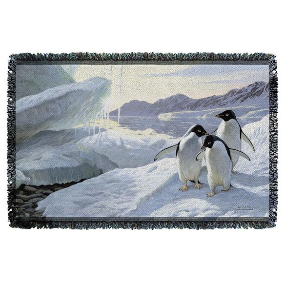 Wild Wings Penguins 2 Woven Throw