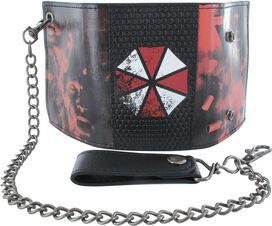 Resident Evil Umbrella Logo Tri-fold Chain Wallet