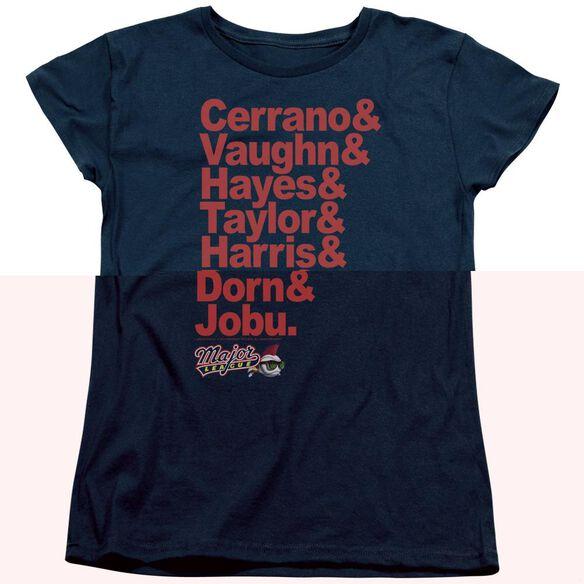 Major League Team Roster Short Sleeve Womens Tee T-Shirt