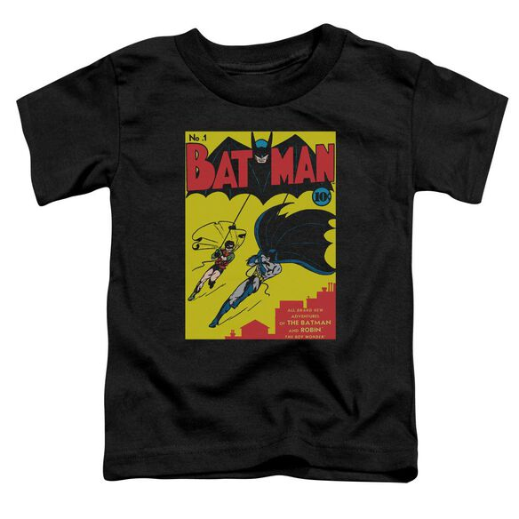 Batman Batman First Short Sleeve Toddler Tee Black T-Shirt