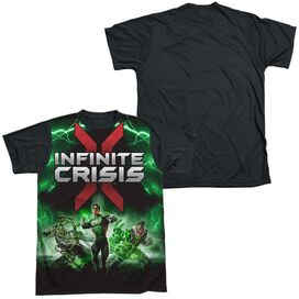 Infinite Crisis Ic Green Lantern Short Sleeve Adult Front Black Back T-Shirt