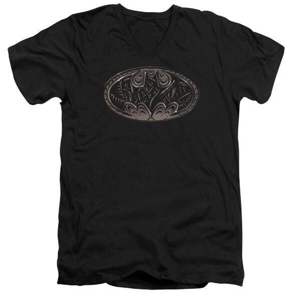 Batman Bio Mech Bat Shield Short Sleeve Adult V Neck T-Shirt